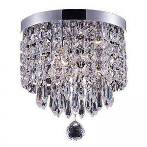 Lighting Smart shupregu, mini cristal plafonnier, cristal Lampe de plafond pour couloir, entrée, chambre, etc. Plafonnier moderne avec 1LED à intensité variable Poires gratuit Diamètre: 22cm de la marque Smart Lighting-Shupregu image 0 produit