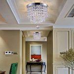 Lighting Smart shupregu, mini cristal plafonnier, cristal Lampe de plafond pour couloir, entrée, chambre, etc. Plafonnier moderne avec 1LED à intensité variable Poires gratuit Diamètre: 22cm de la marque Smart Lighting-Shupregu image 3 produit