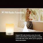 LIGHTSTORY Multicolore Lampe de Chevet Tactile, Lampe Bluetooth Enceinte Sans Fil Lampe d'Ambiance Lampe de Table Lampe LED USB Rechargeable avec 4 Intensités de Luminosité, Veilleuse Led, Bluetooth Haut-Parleur Portable Compatible avec iPhone iPad Androi image 3 produit