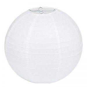 """LIHAO 10""""(25cm) Lampion Papier Lanterne Papier Boule Blanc pour Décoration de Mariage, Maison, Noël, Fête etc.(Lot de 10pcs) de la marque LIHAO image 0 produit"""