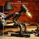 LILY Lampe de table industrielle vintage LDE Lampe de bureau rustique en acier à tube d'eau, Steampunk Base en fer forgé Lampe de table ancienne pour chambre à coucher Chambre Bar Café E27 ( Color : C ) de la marque LILY image 1 produit