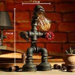LILY Lampe de table industrielle vintage LDE Lampe de bureau rustique en acier à tube d'eau, Steampunk Base en fer forgé Lampe de table ancienne pour chambre à coucher Chambre Bar Café E27 ( Color : B ) de la marque LILY image 1 produit