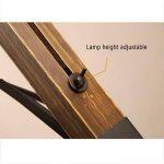 LINA Trépied Lampadaire Loft Rétro Industriel Vent Lampe Couverture Angle Réglable En Hauteur Réglable En Bois Salon Étude Chambre Lampadaire de la marque LINA image 4 produit