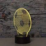 Linkax Veilleuse LED 3D Lampe Optique Illusion Veilleuse Enfant Lampe de nuit pour Chambre Chevet Table de Fille Fils Cadeau Anniversaire Surprise Deco Ambiance Créatif avec Câble USB et Télécommande de la marque Linkax image 1 produit