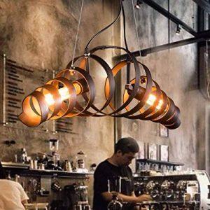 Lit. Bar rétro lampe de fer minimaliste Suspension style industriel moderne Lustres de Plafond de la marque Lit. image 0 produit
