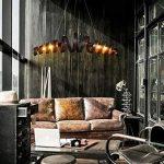 Lit. Bar rétro lampe de fer minimaliste Suspension style industriel moderne Lustres de Plafond de la marque Lit. image 4 produit