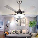 Liuyu · Ventilateurs de plafond Ventilateurs de plafond de ménage Lumières de ventilateur de restaurant Lustre de salon Ventilateur de plafond Ambiance minimaliste moderne Fan Lamps Blue Wood Leaf; Ventilateur en acier inoxydable Moteur silencieux, assura image 1 produit
