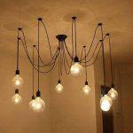 Lixada E27 Douille Rétro abat-jour Suspensions Vintage ajustable Rétro Lustre plafond Lampe Dining Hall Chambre Hôtel 10 bras (pas d'ampoule) de la marque Lixada image 1 produit
