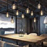 Lixada E27 Douille Rétro abat-jour Suspensions Vintage ajustable Rétro Lustre plafond Lampe Dining Hall Chambre Hôtel 10 bras (pas d'ampoule) de la marque Lixada image 2 produit
