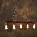 Lixada Rétro Lampe Vintage suspension, Industrielle Lampe,Bronze en métal E27 Ampoules Conception de tuyau d'eau Eclairage de Chambre Salon Salle (sans ampoule ) de la marque Lixada image 2 produit