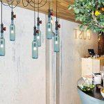 LJF Vintage bouteille lustre, bleu bouteille de vin lampe suspendue hôtel plusieurs chefs restaurant lustre industrie tuyau d'eau décoratif lustre E27 Sûr et durable (taille : #8) de la marque LJF Chandelier image 2 produit