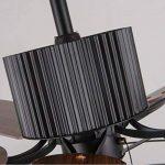 Loft industriel ventilateur de plafond ventilateur rétro rétro American home LED ventilateur lustre lumière (contrôle de la corde de traction) de la marque KK-Lumières du ventilateur de plafond image 3 produit