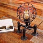 Loft Rétro Edison Vintage Industriel Socle en Métal Conduite D'eau Lampes de Table Antique Fer Forgé Steampunk Lampe de Bureau Lampe à Poser pour Chevet Bar Salon Chambre Lampe de la marque M-zen image 2 produit
