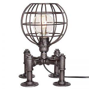 Loft Rétro Edison Vintage Industriel Socle en Métal Conduite D'eau Lampes de Table Antique Fer Forgé Steampunk Lampe de Bureau Lampe à Poser pour Chevet Bar Salon Chambre Lampe de la marque M-zen image 0 produit