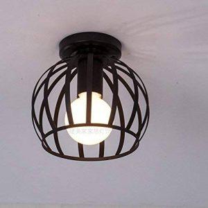 LOFT Rétro Plafonnier Vintage Industrielle Style Design Eclairage de plafond en Noir Cage en Fer Intérieure Décoration Douille E27*1 max. 60W , B de la marque HanLinLight image 0 produit
