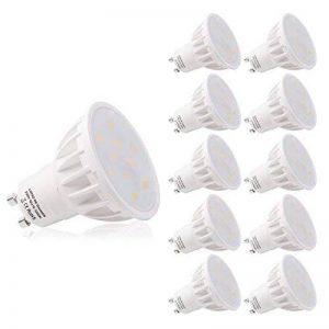 LOHAS 6Watt Dimmable GU10 Lot de 10 LED Blanc Chaud, 3000K, 500lm, Equivalente à Incandescence 50Watt, 120° Larges Faisceaux,Ampoule LED GU10,Spot Light Lampe de la marque Lohas-Led image 0 produit