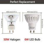 LOHAS 6Watt Dimmable GU10 Lot de 10 LED Blanc Chaud, 3000K, 500lm, Equivalente à Incandescence 50Watt, 120° Larges Faisceaux,Ampoule LED GU10,Spot Light Lampe de la marque Lohas-Led image 1 produit