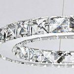 Lonfenner Lustres en cristal lustres en cristal en forme de S LED chrome lustre en salle minimaliste moderne Villa lampe en cristal (long de 60cm de large 30 cm) en acier inoxydable , Warm Yellow Light de la marque Lonfenner image 1 produit