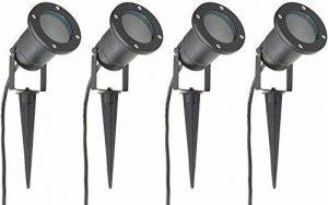 Long Life Lamp Company Lot de 4 Éclairage extérieur à piquer - Spot GU10 IP65 Noir mat de la marque Long Life Lamp Company image 0 produit