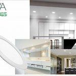 Lot 5Panneau rond LED Dya, Spot Encastrable Lumière naturel 4000K avec rabats à ressort de la marque DYA image 2 produit