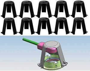 Lot de 10Entretoise Protection contre la chaleur Trango TG de Ash pour les halogènes encastrés LED Spot Spots Encastrables de la marque Trango image 0 produit