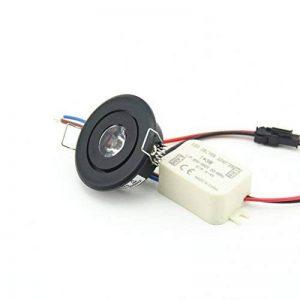 (Lot de 10) Mini 3W LED Rond Noir LED encastrable plafonnier lumière Armoire Spots encastrés (Blanc froid 6000K) de la marque JOYINLED image 0 produit