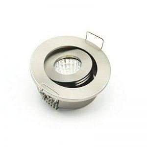 Lot de 10mini Nickel satiné 3W Spot LED Encastrable à lumière COB Spot pour maison 42cm ouvert trou 3000K de la marque JOYINLED LED Downlights image 0 produit