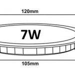 Lot de 10 Spot Encastrable LED Downlight Panel Extra-Plat 7W Blanc Froid 6000K de la marque LampesEcoEnergie image 2 produit