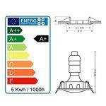 LOT DE 10 SPOT LED ENCASTRABLE COMPLETE RONDE FIXE eq. 50W LUMIERE BLANC NEUTRE de la marque Lampesecoenergie image 4 produit