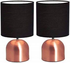 Lot de 2 BRUBAKER Lampes de table ou Lampes de chevet 28 cm Cuivre/Noir - Designed in Germany de la marque Brubaker image 0 produit