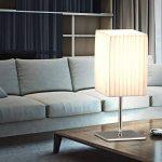 Lot de 2 lampes de table bedsitting éclairage de la pièce textile Chrome commutable lampes blanc de la marque etc-shop image 3 produit