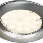 LOT DE 2 SPOT LED ENCASTRABLE COMPLETE RONDE FIXE ALU BROSSE eq. 50W BLANC NEUTRE de la marque Lampesecoenergie image 2 produit