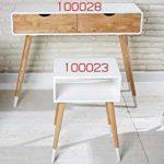 Lot de 2tables de chevet, avec tiroir, blanc, 30x 35,1x 69,8cm, table pour lampe de chevet, table de téléphone, table de nuit de la marque Wholesaler GmbH image 4 produit