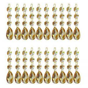 Lot de 20pendentifs goutte d'eau Cristal Lustre prismes pièces Perles de la marque youchuan image 0 produit