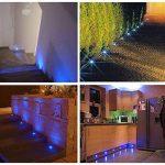 Lot de 20 QACA Encastré Terrasse Bois Luminaire Kits LED Spot Encastrables Etanche pour Patio Escalier DC 12V Etanche IP67 (Bleu) de la marque QACA image 1 produit