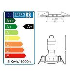 LOT DE 20 SPOT LED ENCASTRABLE COMPLETE RONDE FIXE ALU BROSSE eq. 50W BLANC NEUTRE de la marque Lampesecoenergie image 4 produit