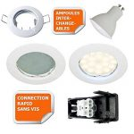 LOT DE 20 SPOT LED ENCASTRABLE COMPLETE RONDE FIXE eq. 50W LUMIERE BLANC NEUTRE de la marque Lampesecoenergie image 2 produit