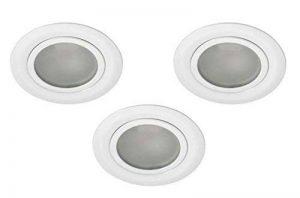 Lot de 3meubles Spot Luminaire encastrable pour meuble Blanc satiné avant pour 12V G4compatible LED AP de la marque Lichtkauf Hausmarke image 0 produit