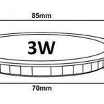 Lot de 3 Spot Encastrable LED Downlight Panel Extra-Plat 3W Blanc Froid 6000K de la marque LampesEcoEnergie image 2 produit