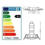 LOT DE 3 SPOT ENCASTRABLE ORIENTABLE CARRE LED SMD GU10 230V BLANC RENDU ENVIRON 50W HALOGENE de la marque Lampesecoenergie image 4 produit