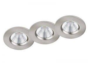 Lot de 3 spots LED encastrables ronds à intensité variable en continu Nickel mat 5,5 W Ø 8,5 cm de la marque Trio-Leuchten image 0 produit