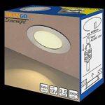Lot de 3spots LED encastrables Trango TGG4E-012 de 12V AC/DC pour remplacer les lampes G4 traditionnelles pour meubles, hottes de cuisine, etc. Aspect acier inoxydable. Acier inoxydable de la marque Trango image 3 produit