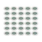 LOT DE 30 SPOT LED ENCASTRABLE COMPLETE RONDE FIXE eq. 50W LUMIERE BLANC NEUTRE de la marque Lampesecoenergie image 1 produit