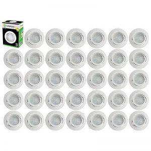 Lot de 35 Spot Led Encastrable Complete Blanc Orientable lumière Blanc Chaud eq. 50W ref.193 de la marque LampesEcoEnergie image 0 produit