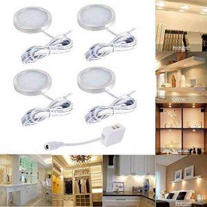 Lot de 4 Éclairage Sous Meuble Cuisine, 2.5W Spot LED Lampe de Cabinet, Éclairage encastré pour Placard, Meuble, Armoire, Cabinet Cuisine, Blanc chaud de la marque ZXX image 0 produit