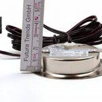 Lot de 4Lampe Spot LED encastrable Meubles Meubles Spot plat LED 2,7W 12V/DC Blanc chaud 3000K/200LM couleur acier inoxydable brossé + 15W LED Transformateur 230V de la marque vislux image 3 produit