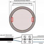 Lot de 5–Spot encastrable à LED pour pièces humides IP54230V–5W–460lm–Fonte d'Aluminium–Trou de perçage Ø68mm–tagesweiß (4000K) de la marque HAVA image 4 produit