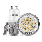 Lot de 6 Ampoules LED Spot Culot GU10, ampoules halogènes 50W, 520lm, 5.5W Blanc Chaud 3000k, éclairage encastré, éclairage sur rail de la marque yohooo image 1 produit
