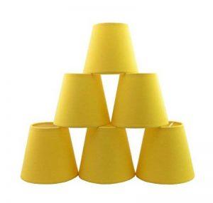 Lot de 6 Pièces Abats-jour de Lampe en Tissu pour Lustre de Bougeoir (Blanc) de la marque Doooitlight image 0 produit