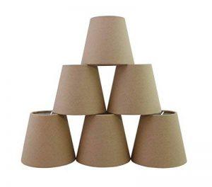 Lot de 6 Pièces Abats-jour de Lampe en Tissu pour Lustre de Bougeoir (Chocolat) de la marque Doooitlight image 0 produit